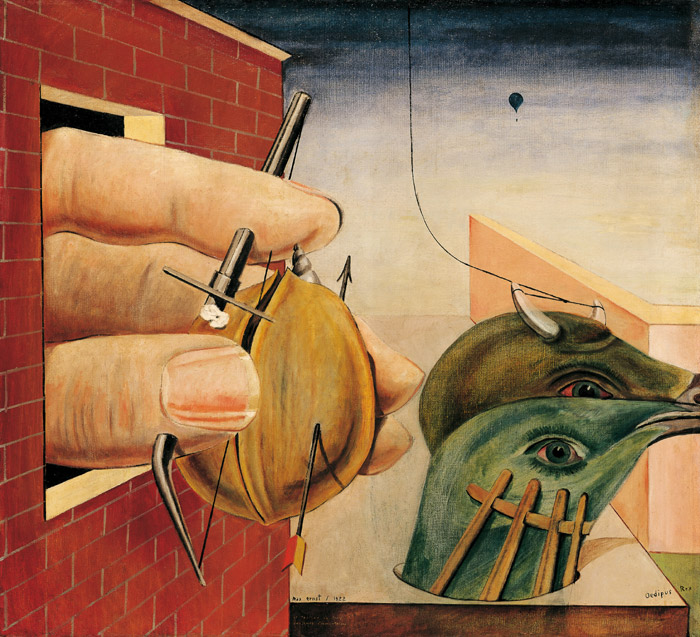 max ernst oedipus rex Oedipus rex is innately freudian just in name, let alone in content the oedipus complex is one of the most well recognized components of freud's theories and it is seen in this work names after it in many ways.