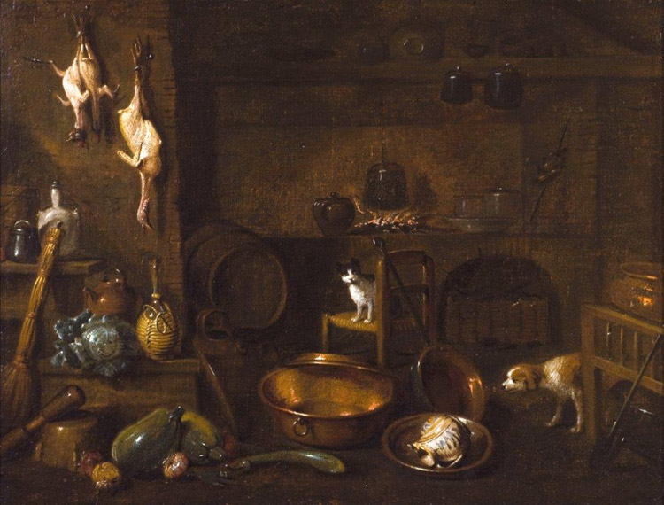 Nelle antiche cucine. Cucine storiche e cucine dipinte | Villa ...